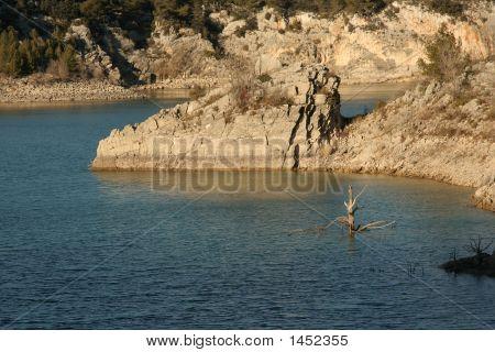 Lac Du Bimont. The Promontory Resembling A Head