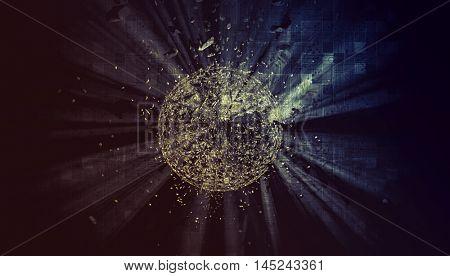 3D rendering, modern digital background
