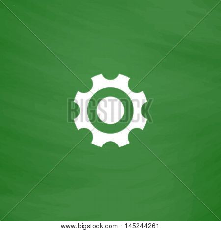 Bearing. Flat Icon. Imitation draw with white chalk on green chalkboard. Flat Pictogram and School board background. Vector illustration symbol