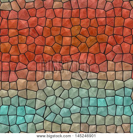 Mosaic blue and red abstract unique background
