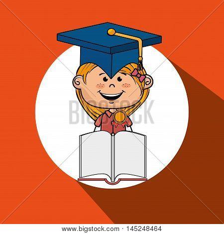 girl student book cap vector illustration eps10 esp 10
