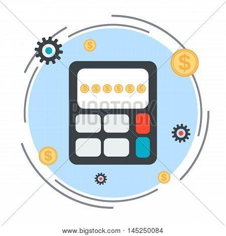 Budget calculation, financial statistics flat design style vector illustration