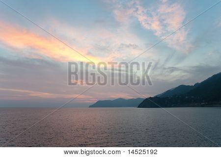 Sonnenuntergang über der Seacost