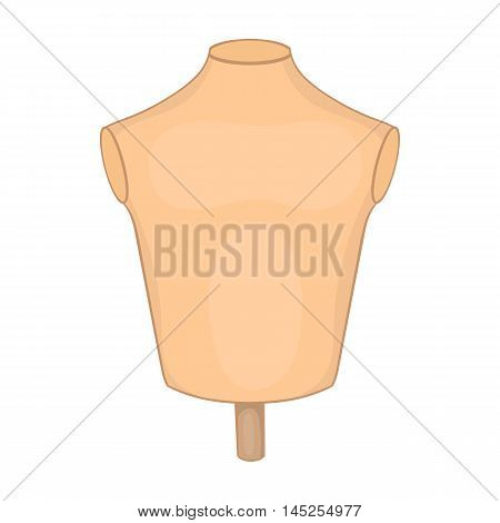Mannequin or dressmakers dummy icon in cartoon style isolated on white background