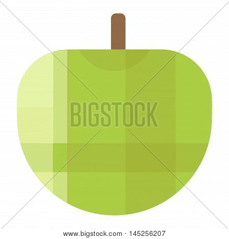 Fresh green apple icon organic food. Fresh sweet green apple vegetarian organic fruit agriculture. Green apple icon