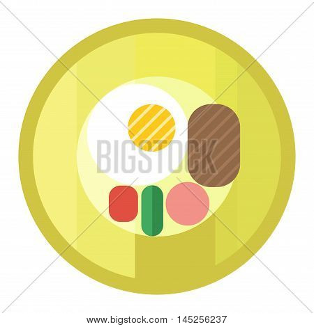 Scrambled eggs lunch on white background appetizing morning cooked ingredient vector. Fresh scrambled eggs and delicious cuisine dish. Scrambled eggs appetizing ingredient.