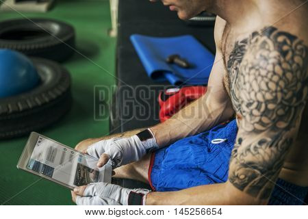 Body Boxer Exercise Health Gym Fitness Concept