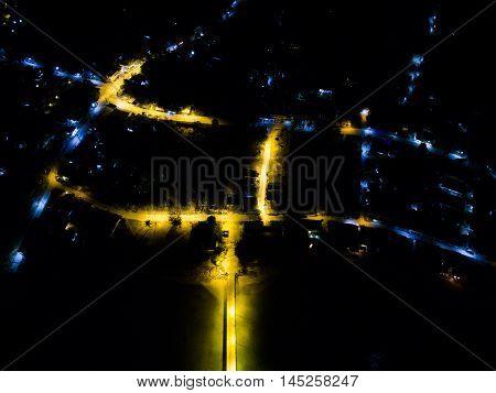 Night pier view in Koh Phangan Thailand