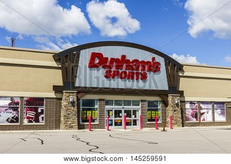 Muncie - Circa September 2016: Dunham's Sports Retail Strip Mall Location. Dunham's Sports is a Sporting Goods Chain Located in the U.S. Midwest II