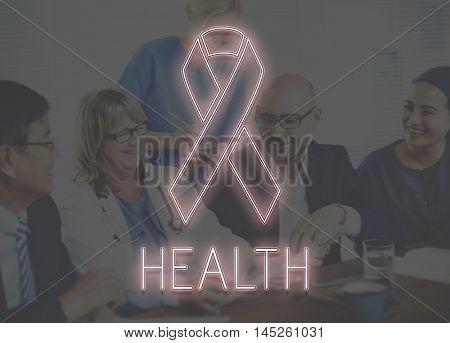 Womens Health Awareness Ribbon Concept