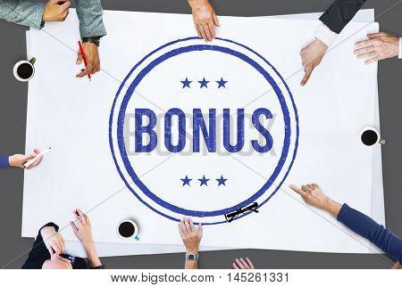 Bonus Prize Profit Incentive Additional Compensation Concept