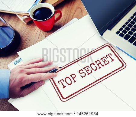 Top Secret Privacy Confidential Classified Stamp Concept