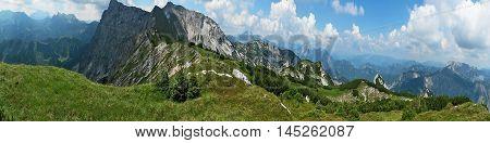 Alp Mountains Slope Landscape Panorama