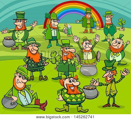 Saint Patrick Day Characters Group