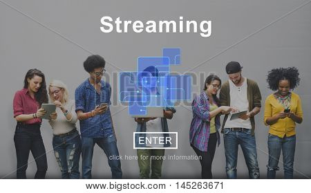 Streaming Internet Media Technology Data Concept