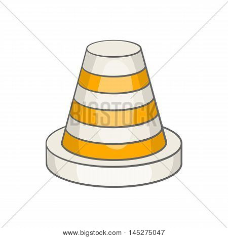 Traffic cone icon in cartoon style isolated on white background. Fencing symbol