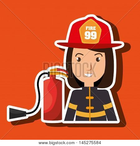 firefighter extinguisher protective vector illustration graphic eps 10