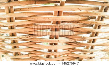 Wicker baskets background and rattan basket textures