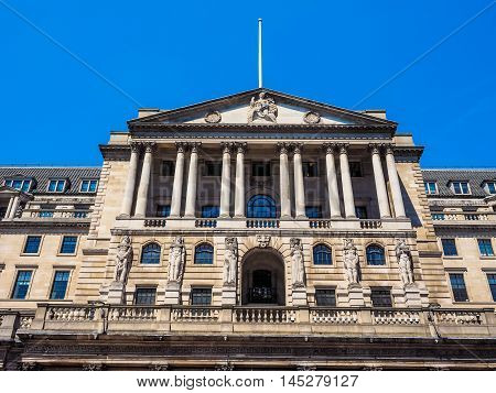 Bank Of England In London Hdr