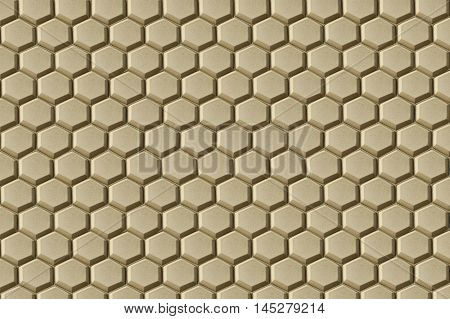 A pattern of honeycomb-texture rubber floor mats for anti-slip purpose