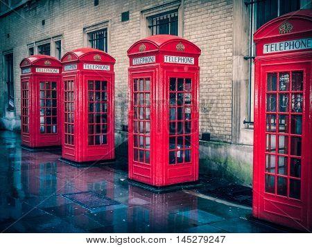 Retro Look London Telephone Box Hdr