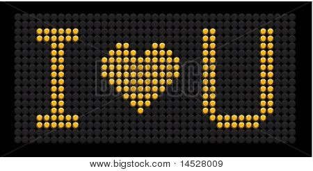 Yellow Button Board Words I Love You