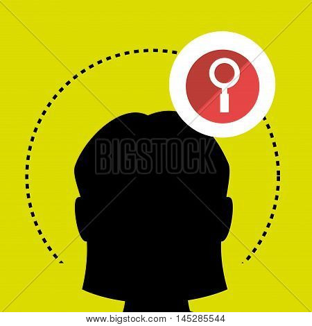 silhouette search loupe icon vector illustration eps 10