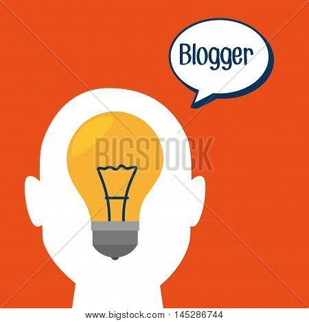 blogger web internet icon vector illustration eps10