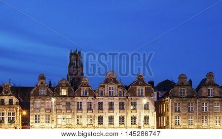 Grand Place in Arras. Arras Nord-Pas-de-Calais-Picardy France.