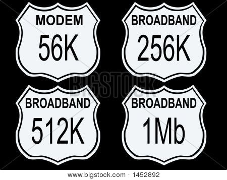 Highway Signs With Modem Speeds