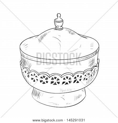Vector Sketch Of Pot