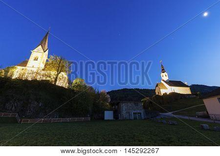 Saints Primus and Felician Church in Maria Worth. Maria Worth Carinthia Austria.