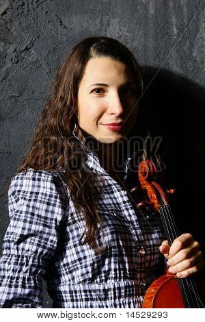 Beautiful Violin Musician