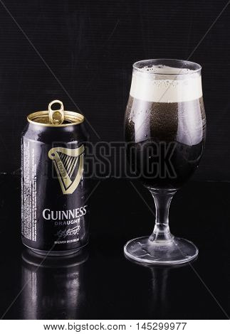 Guinness Beer Can And Glass