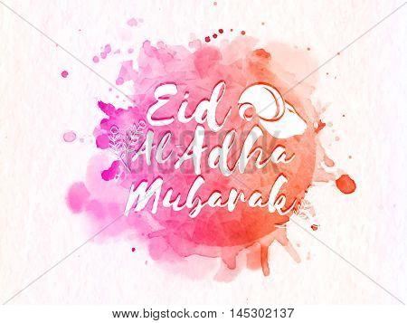 Eid-Al-Adha Mubarak with Goat  for Muslim Community, Festival of Sacrifice Celebration.