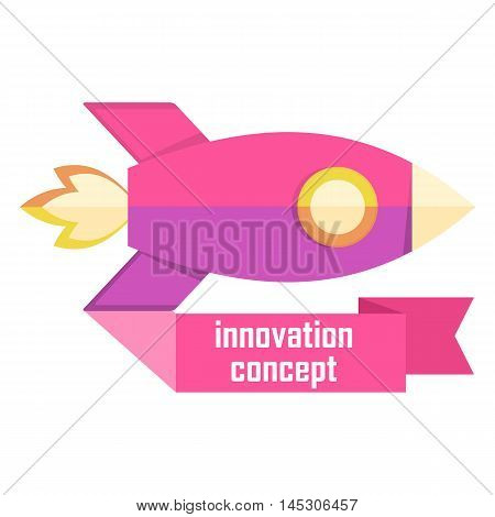 Innovation Concept Logo With Rocket