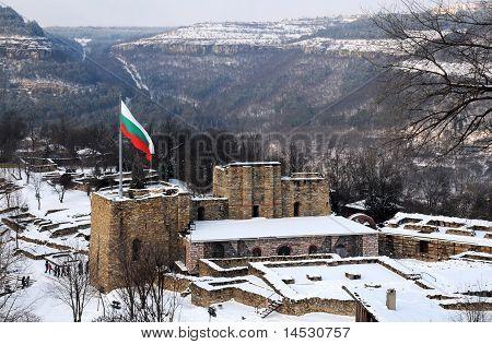 Bandeira sobre Fortaleza Tsarevets
