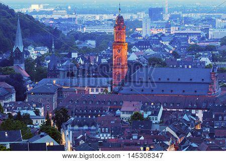 Jesuit Church in Heidelberg. Heidelberg Baden-Wurttemberg Germany.