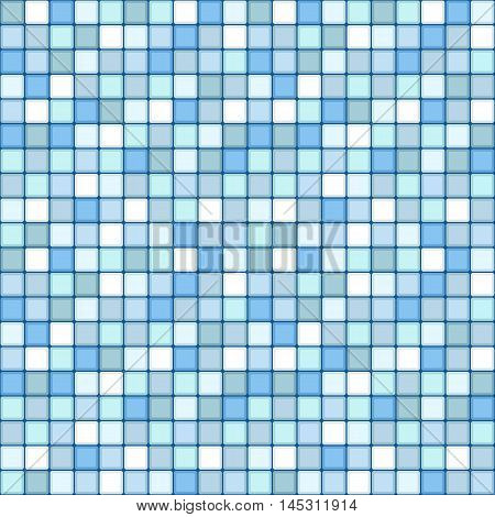mosaic seamless pattern. square tile with pastel blue colors. vector illustration - eps 8