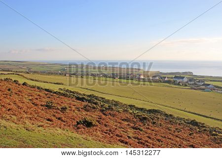 Coast of the Gower Peninsula in Wales