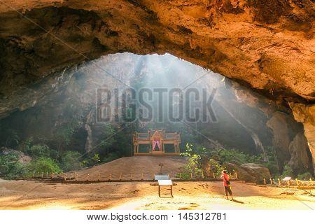 Royal pavilion in the Phraya Nakhon Cave Prachuap Khiri Khan Thailand
