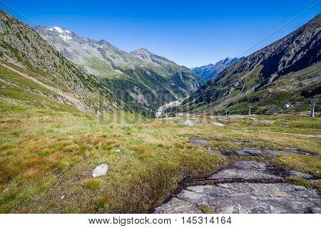 View Of The Stubai Valley