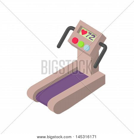 Treadmill icon in cartoon style isolated on white background. Sport symbol