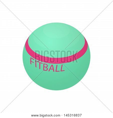 Fitball icon in cartoon style isolated on white background. Sport symbol