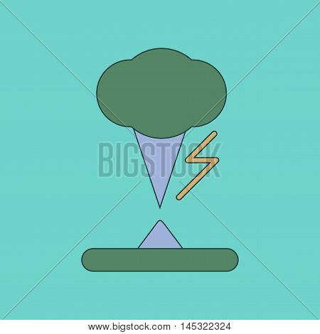 flat icon on stylish background natural disaster tornado, vector