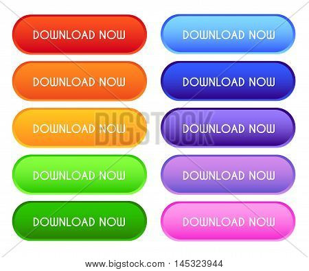 Collection Of 'download Now' Buttons