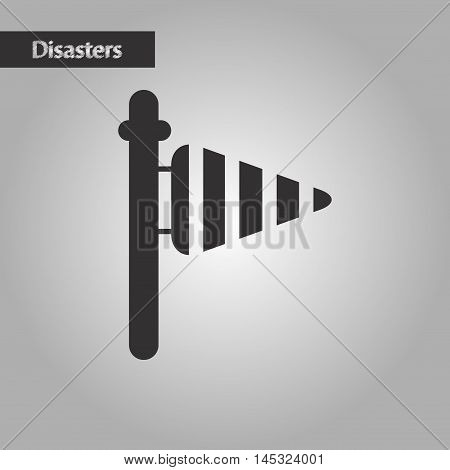 black and white style natures weather vane, vector