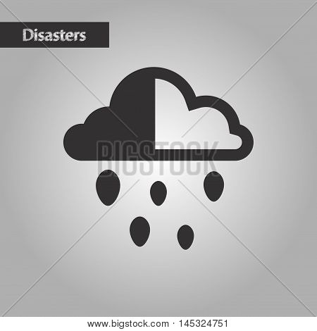 black and white style nature cloud hail, vector