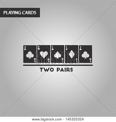 black and white style poker two pairs