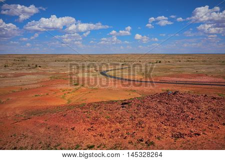 Nice view of the Gobi desert Mongolia